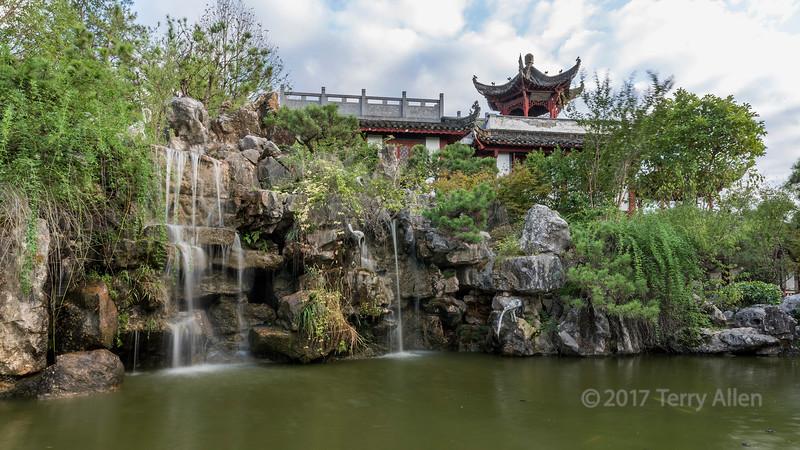'Mountain and Stone Waterfall'  Bao Family Garden, Tanagyue, Shexian, China