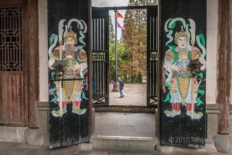 Painted doors of Dun Ben Tang (Ancestral Hall of Men), Tanque, China
