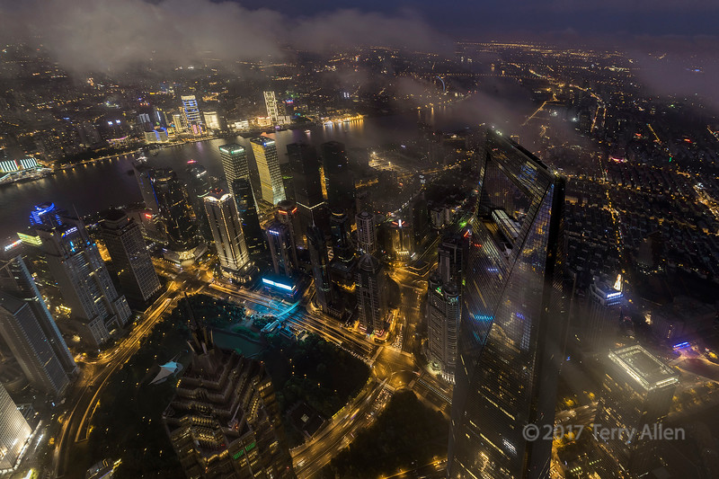 Night view from Shanghai Tower md