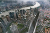 View of Pudong and the Huangpu River from Shanghai Tower, Pudong, China