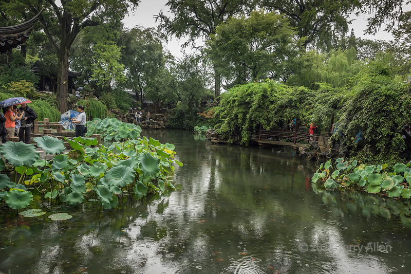 Liu Yuan (Lingering) Classical Garden in a light rain, UNESCO, Souzhou, China