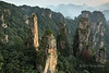Zhangiajie National Park sandstone pillars and forest in the polluted air, Hunnan, China