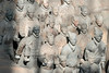Terracotta warriors, Pit 1, with traces of original paint, Lishan, Xian, China