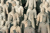 Close-up of terracotta warriors, Pit 1, Lishan, Xian, China