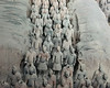 Terracotta warriors with and without heads, Pit 1, Lishan, Xian, China