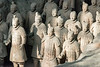 Life-sized terracotta warriors standing in Pit 1, UNESCO, Lishan, Xian, China
