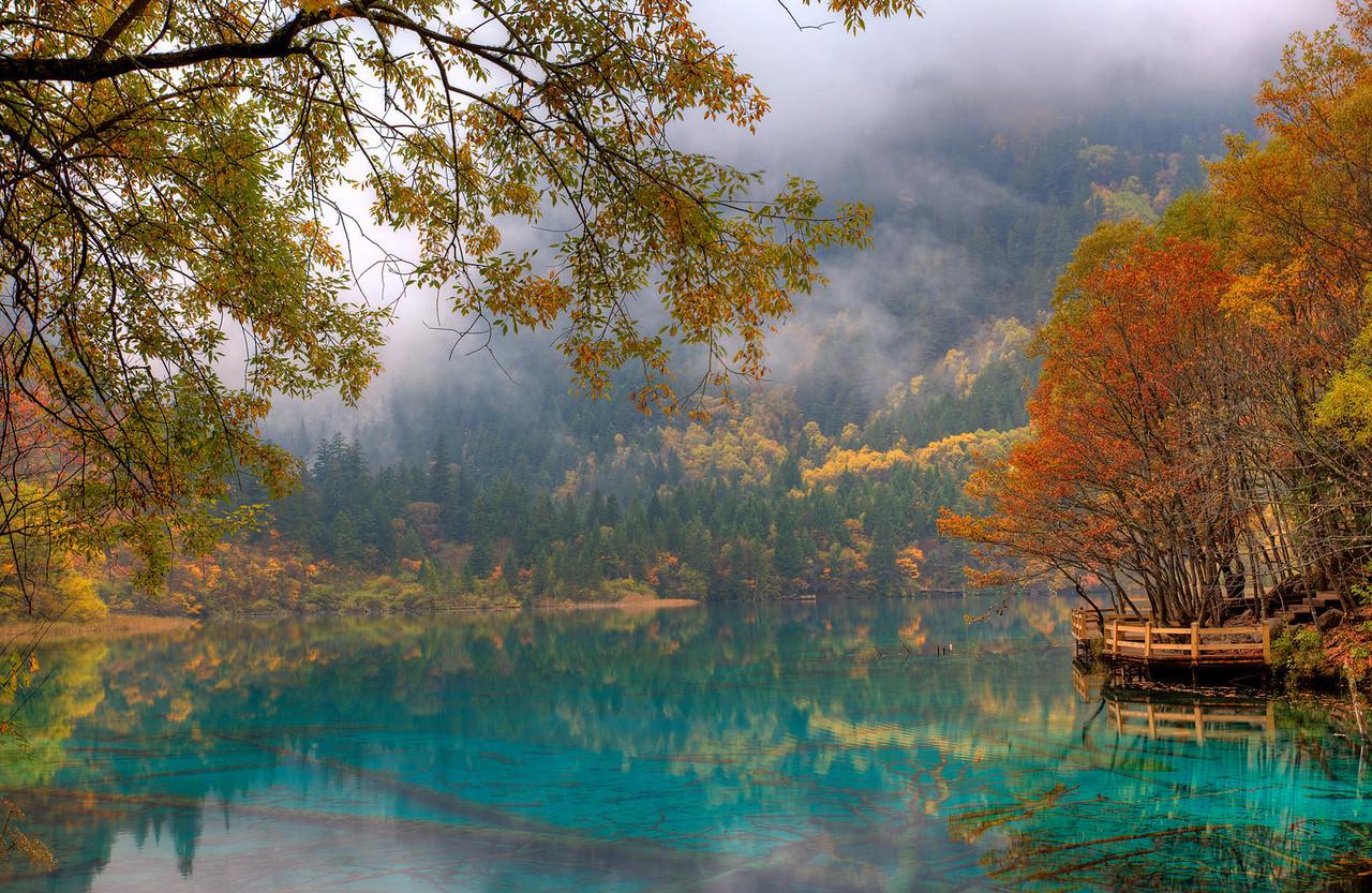Five Flower Lake, Jiuzhaigou, China