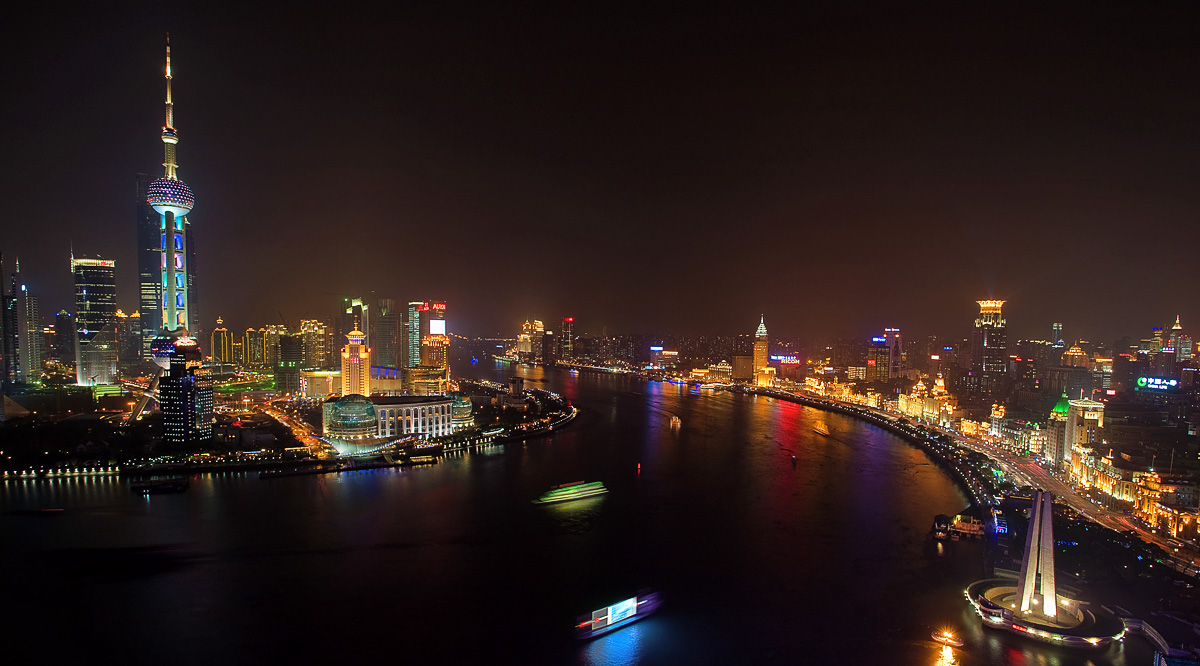 The Old and New Centres of Shanghai in harmony.