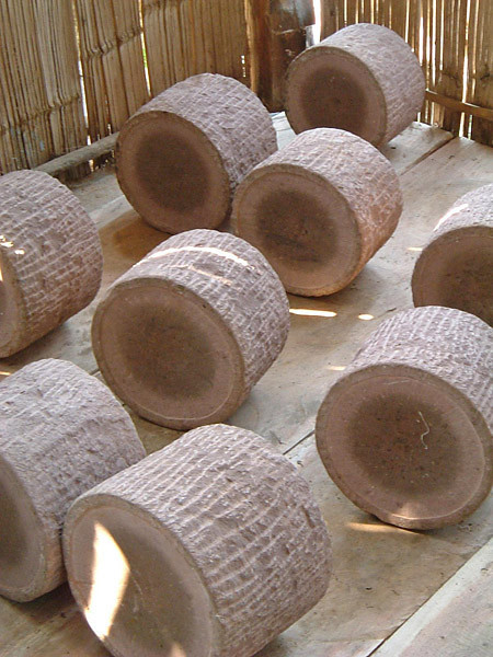 Stone Presses for Shaping Pu-erh Cakes
