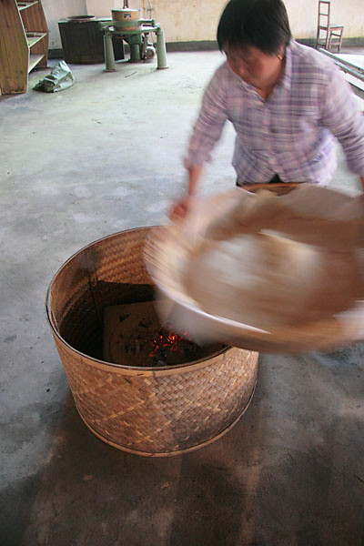 Readying the Embers for Basket Firing