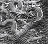 Detail in Datong's Nine Dragon Wall, medium format TriX film