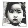 Intaglio print of girl in Beihai area of Beijing.