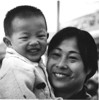 Mother and son in Beijing.