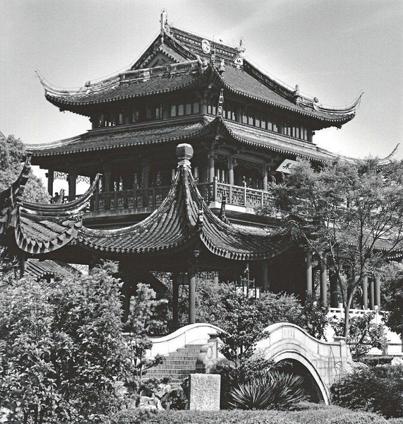 Suzhou, pavillion in Ruiguang Park