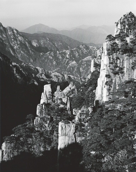 Huangshan, West Sea Canyon, looking northwest with 80 mm lens