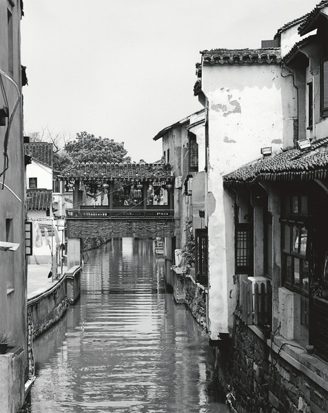 Suzhou, small side canal in Shangtang Street district