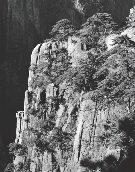 Huangshan, West Sea Canyon, looking northwest with 150 mm lens.