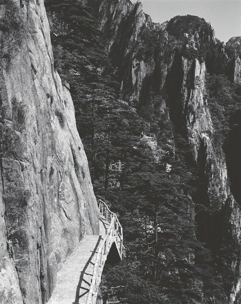 Catwalk trail in West Sea Canyon, Loop 1, Huangshan