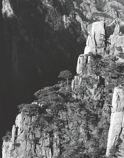 Huangshan, West Sea Canyon, looking northwest with 150 mm lens