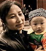 Mother and Child, Beijing, 17.54 x 15.87 inches (Canon)