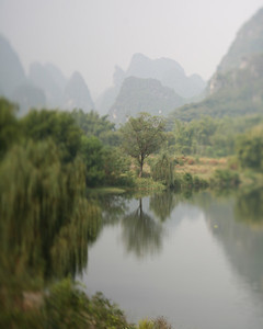 Pond Reflection, Yang Shuo, China