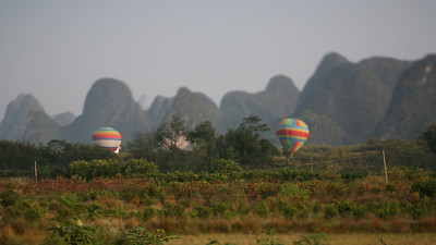 Hot Air Balloons, Yang Shuo, China