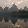Early morning on the Li River at Yangshou.
