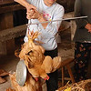 The Chinese are very big on fresh food.  You select your chickens, they get weighted (note the balance beam scale) and paid for, necks get wrung, and feathers get plucked is less time than it takes you to put a plastic-wrapped package of chicken in your grocery cart at home.