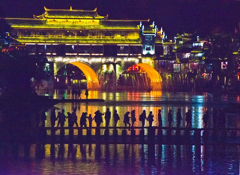Bridge over Tuo River (Nighttime)