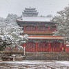 First Snow in Beijing, China