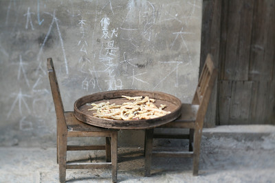 Drying Ginseng, Yang Shuo, China