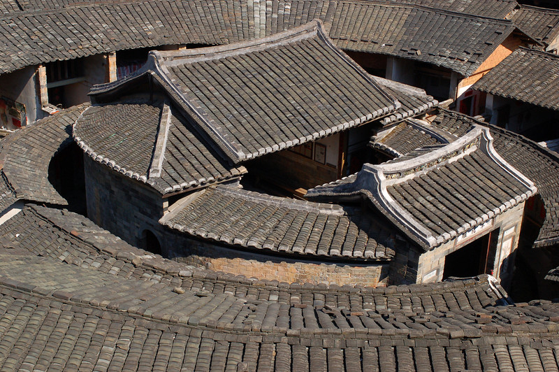Central building and surrounding rings of the Chengqi Tulou