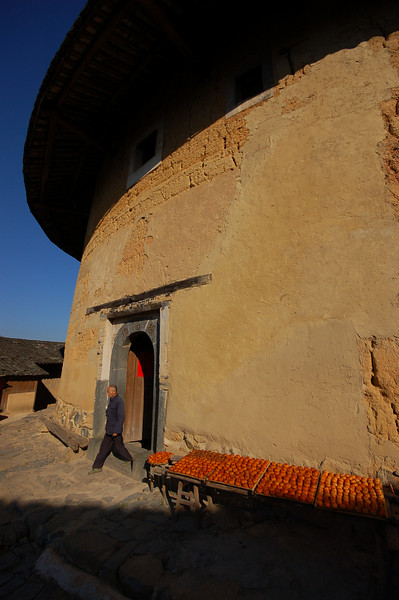 Leaving the Zhenchang Tulou