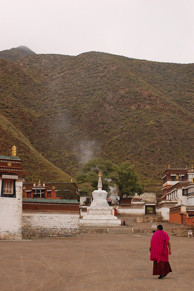 The main courtyard of the Labrang Monastery