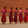 Young novice monks practise their Cham dancing