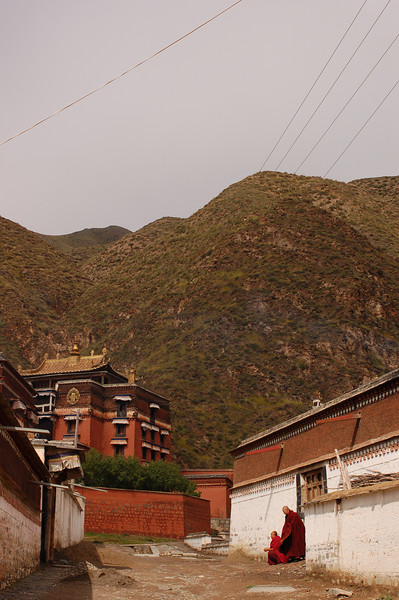 Monks in every Labrang alleyway