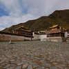 A Labrang Monastery courtyard