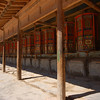 Wooden prayer wheels on the kora