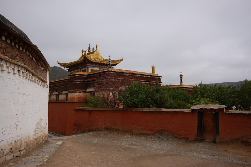 The gold roof of a temple building