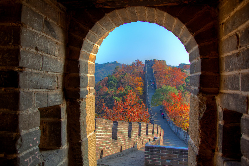 Mu Tien Yu Great Wall at fall