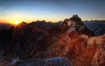Sunset at Jiankou Great Wall, China