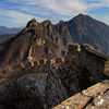 Jiankou Great Wall: The photos in this gallery are a combination of two walks, one in late afternoon (until sunset) of October 3, 2011, and another in the morning of November 22, 2008. The first photo gives a good idea of relatively where the two climbs were: the recent one (2011) was a section just below the highest tower at the far end, and the second (1988) climb was from where this first photo was taken! edit