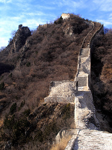 Jiankou Great Wall, China This was the look of the left hand side of the starting point of the 1988 climb, which we climbed towards the right side (not visible from this photo but from the next one.)