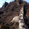 Jiankou Great Wall, China<br /> This was the look of the left hand side of the starting point of the 1988 climb, which we climbed towards the right side (not visible from this photo but from the next one.)