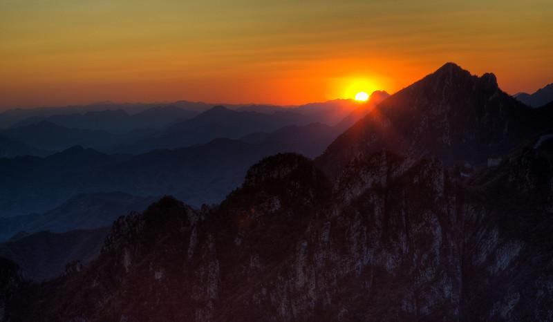 Sunset from Jiankou Great Wall
