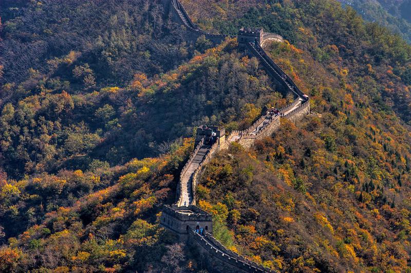 Fall foliage at Mu Tian Yu Great Wall, China