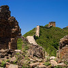 Jin Shan Ling Great Wall on a sunny day in early summer