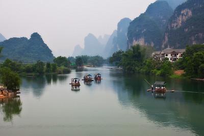 Yulong River as seen from Yulong Bridge