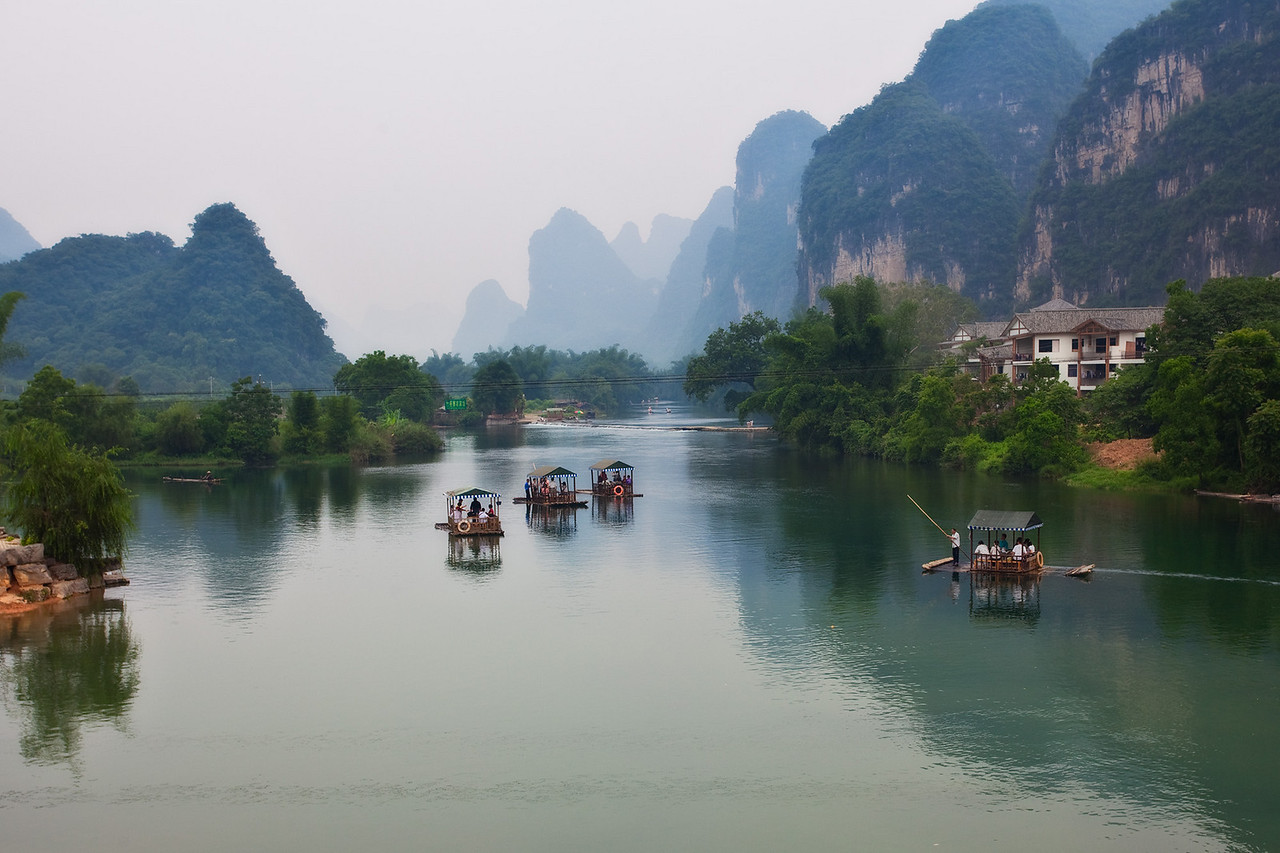 Yulong River as seen from Yulong Bridge