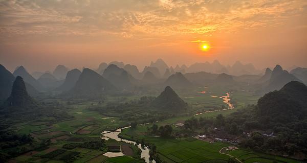 Cuiping Scenery, Yangshuo, Guilin, China
